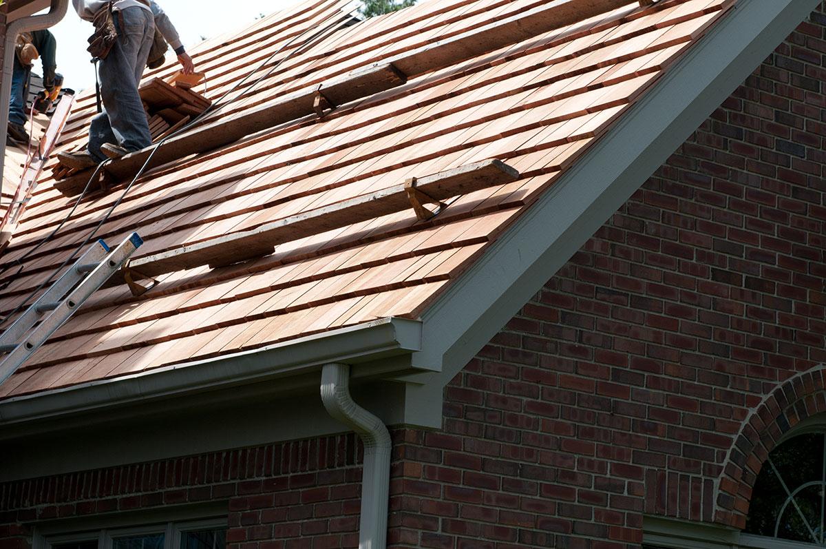 Cedar Shake Roof Installation Exterior Wood Restoration