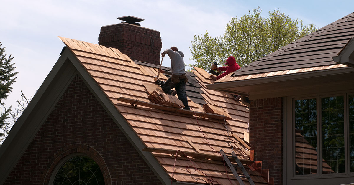Cedar Shake Roof Installation - Exterior Wood Restoration